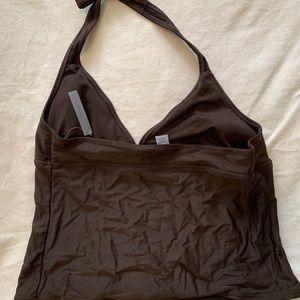 NWT Women's LARGE brown tankini top
